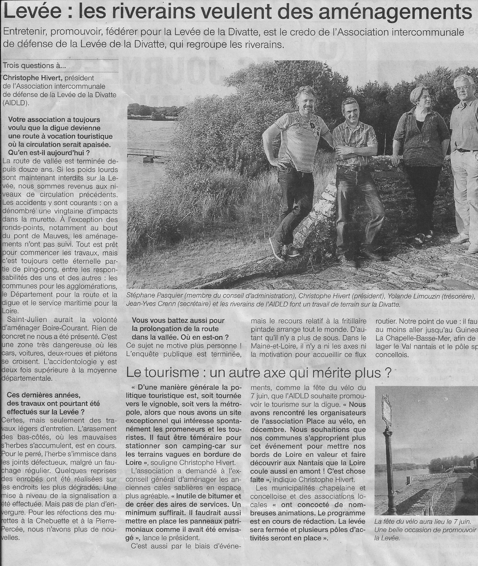 2015 04 02 ouest france les riverains veulent des amenagements