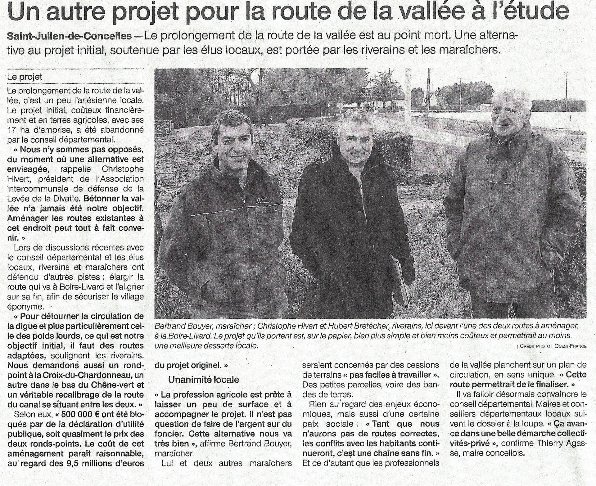2018 12 14 un autre projet pour la route de la vallee a l etude ouest france 1